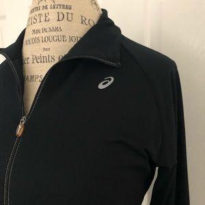 ASICS brand women's black jacket. EUC. Size Large